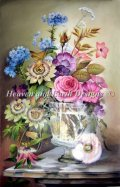 HeavenAndEarth図案 Vase With Flowers