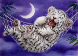 画像1: HeavenAndEarth図案 Hammock White Tiger
