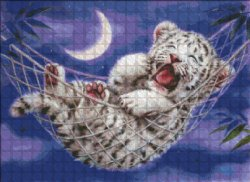 画像2: HeavenAndEarth図案 Hammock White Tiger
