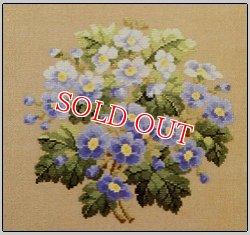 画像1: Permin of Copenhagen図案 Blue Spring Flowers